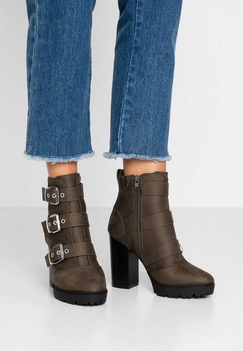 Even&Odd - High Heel Stiefelette - khaki