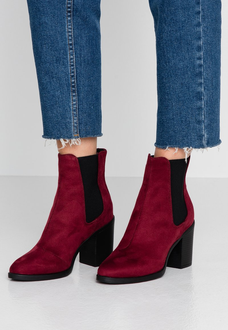 Even&Odd - High heeled ankle boots - berry