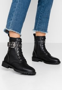 Even&Odd - Stivaletti texani / biker - black - 0