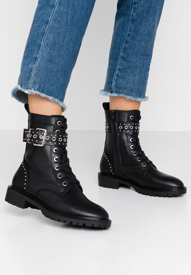 Even&Odd - Cowboy- / bikerstøvlette - black