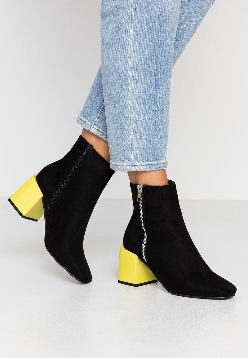 Even&Odd - Korte laarzen - black/yellow