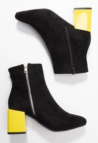 Even&Odd - Korte laarzen - black/yellow - 3