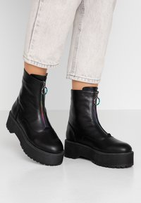 Even&Odd - Bottines à plateau - black - 0