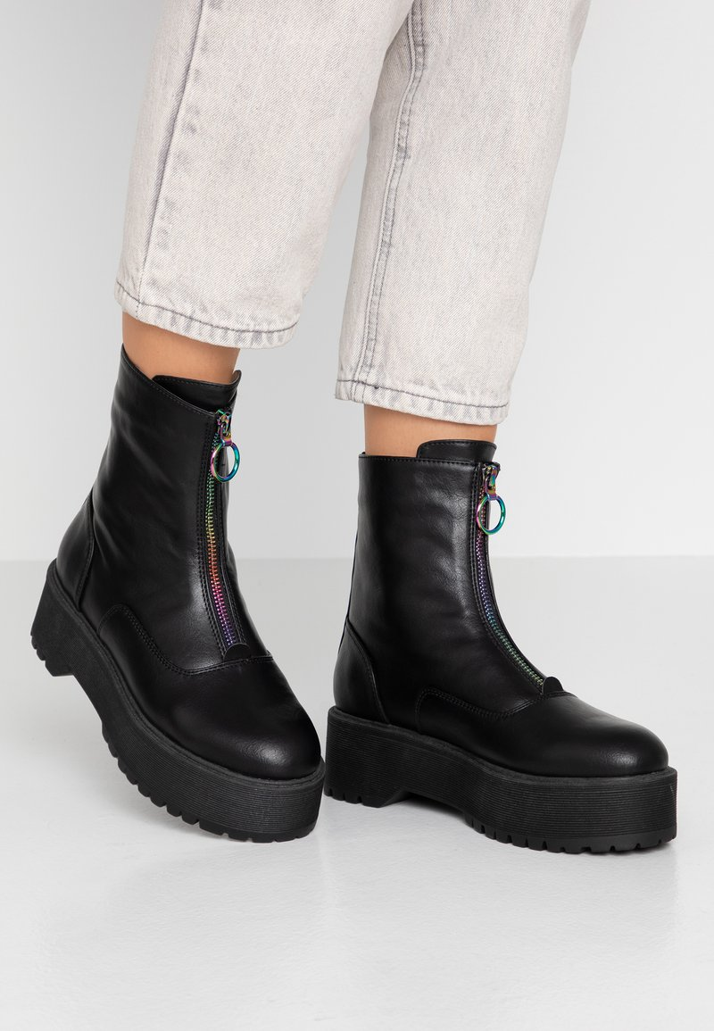 Even&Odd - Bottines à plateau - black