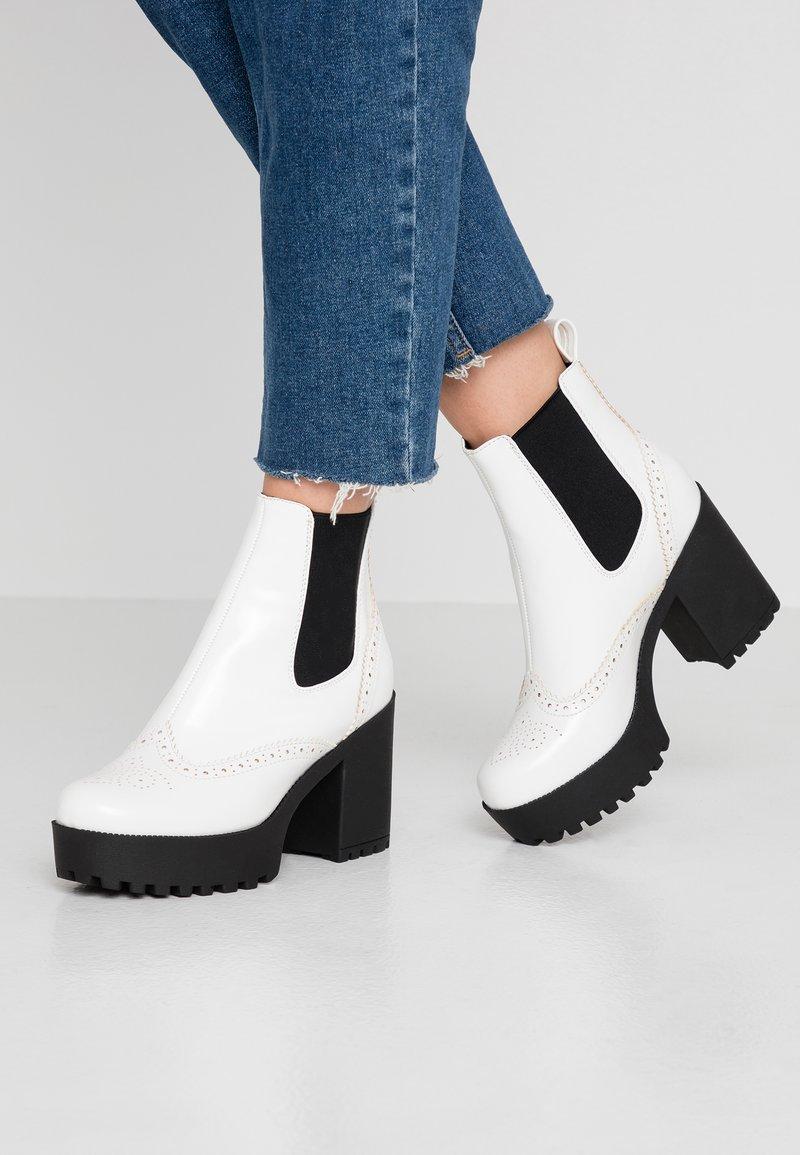 Even&Odd - Højhælede støvletter - white