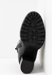 Even&Odd - Kotníková obuv na vysokém podpatku - black - 6