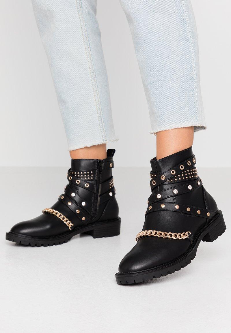 Even&Odd - Kovbojské/motorkářské boty - black