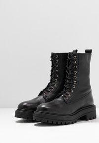 Even&Odd - Kotníkové boty na platformě - black - 4