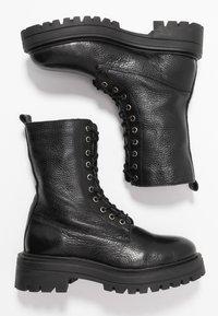Even&Odd - Kotníkové boty na platformě - black - 3