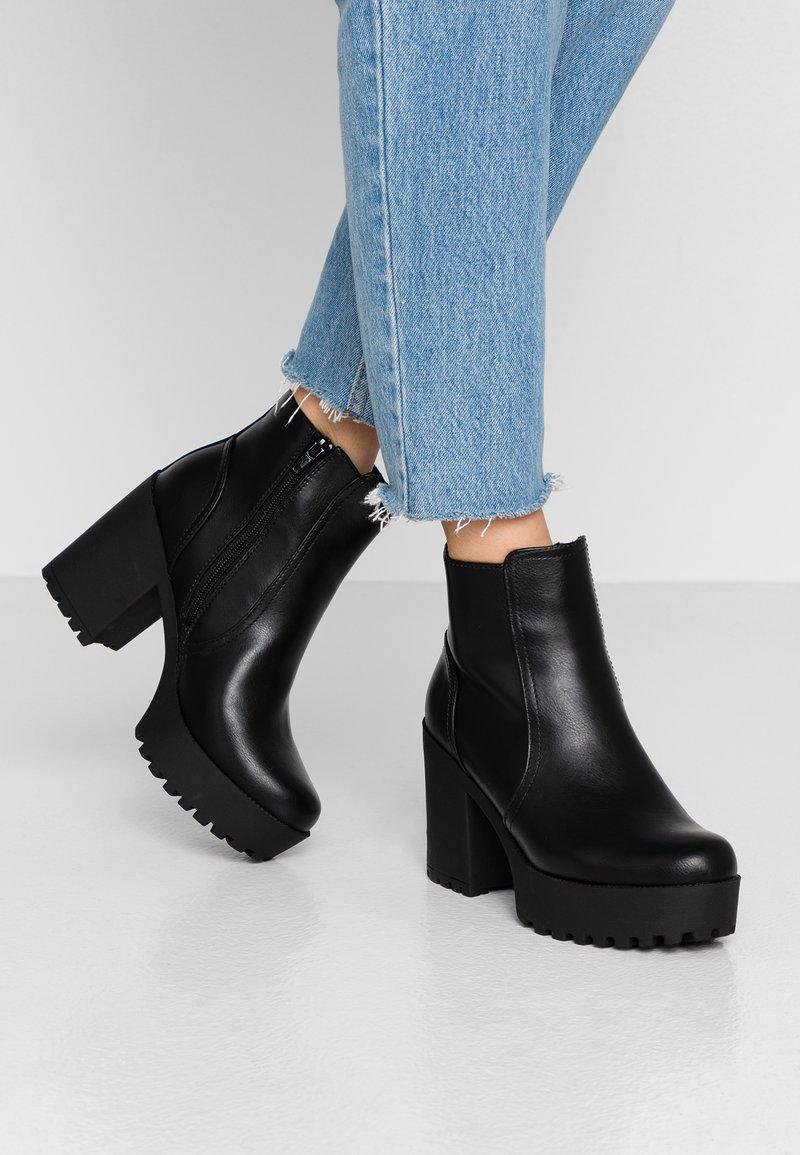Even&Odd - High Heel Stiefelette - black