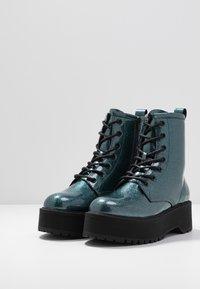 Even&Odd - Kotníkové boty na platformě - blue - 4