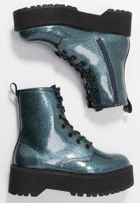Even&Odd - Kotníkové boty na platformě - blue - 3