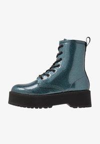 Even&Odd - Kotníkové boty na platformě - blue - 1
