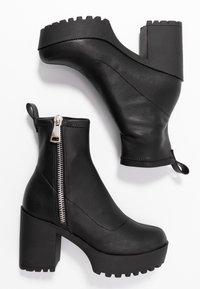 Even&Odd - Ankelboots med høye hæler - black - 3