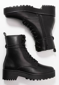 Even&Odd - Platform ankle boots - black - 3