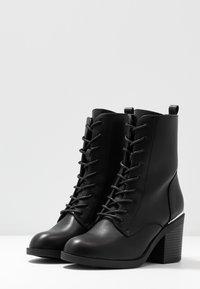 Even&Odd - Šněrovací kotníkové boty - black - 4