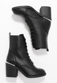 Even&Odd - Šněrovací kotníkové boty - black - 3