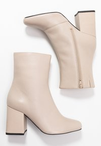 Even&Odd - LEATHER BOOTIE - Støvletter - beige - 3
