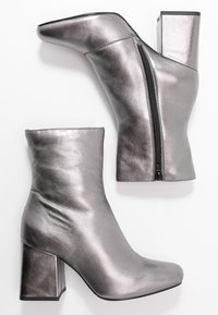 Even&Odd - LEATHER BOOTIE - Classic ankle boots - gunmetal - 3