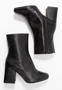Even&Odd - LEATHER BOOTIE - Støvletter - black - 3
