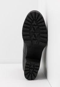 Even&Odd - LEATHER PLATFORM BOOTIE  - Kotníková obuv na vysokém podpatku - black - 6