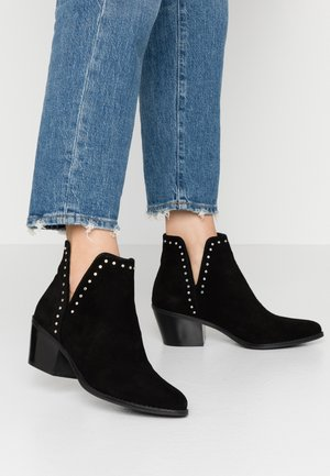 LEATHER - Boots à talons - black