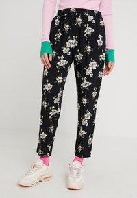 Even&Odd - Trousers - rose/black - 0