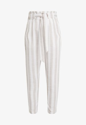 Pantaloni - beige/white