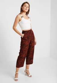 Even&Odd - Trousers - brown/black - 1