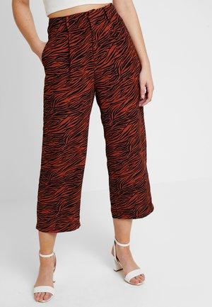 Trousers - brown/black