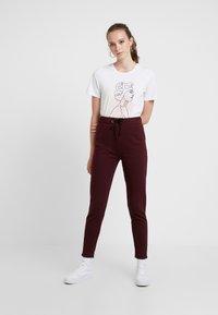 Even&Odd - Pantaloni sportivi - burgundy - 1
