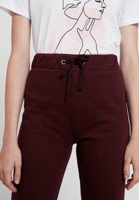 Even&Odd - Tracksuit bottoms - burgundy - 4