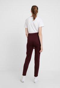Even&Odd - Pantaloni sportivi - burgundy - 2