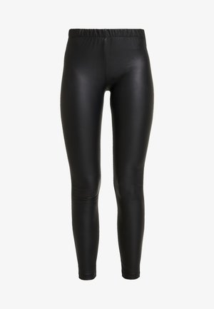 Wet Look Leggings - Legíny - black