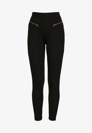Leggings with zip detail - Leggings - Trousers - black