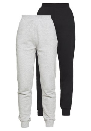 2 PACK - Tracksuit bottoms - black/light grey