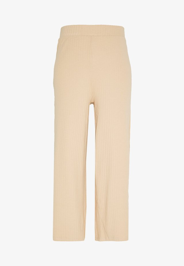 Wide Cropped Pants - Trousers - cuban sand