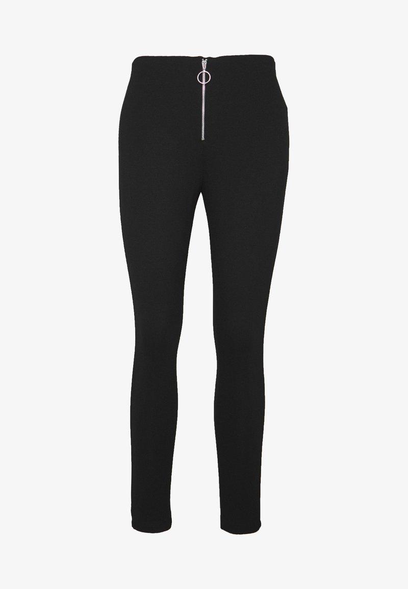 Even&Odd - LEGGINGS WITH ZIP DETAIL - Leggings - black