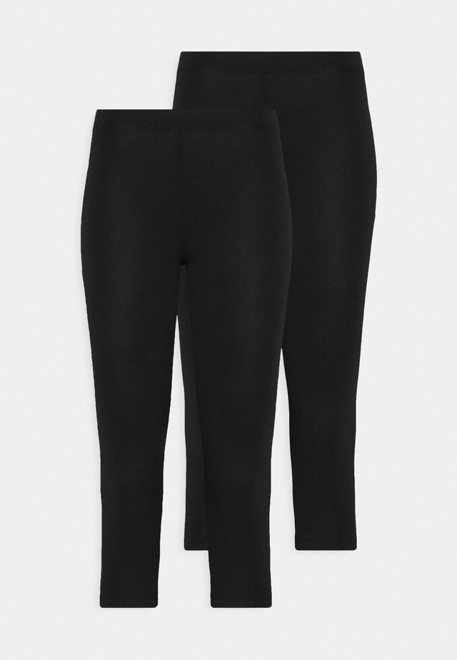 2 PACK CAPRI LEGGINGS  - Leggings - Hosen - black