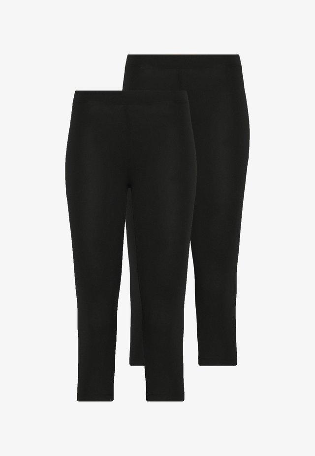 2 PACK CAPRI LEGGINGS  - Leggingsit - black