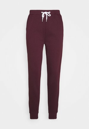 BASIC - Joggers with cord - Tracksuit bottoms - dark red