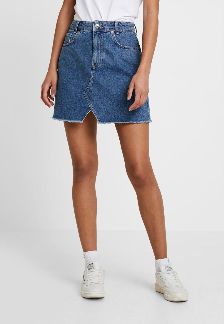 Even&Odd - A-line skirt - mid blue denim