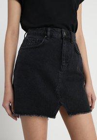 Even&Odd - A-line skirt - black denim - 3