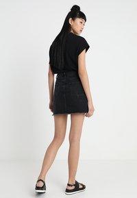 Even&Odd - A-line skirt - black denim - 2