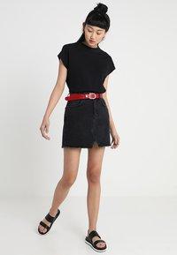 Even&Odd - A-line skirt - black denim - 1