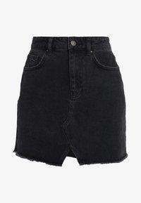 Even&Odd - A-line skirt - black denim - 5