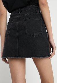 Even&Odd - A-line skirt - black denim - 4
