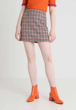 A-line skirt - orange/black