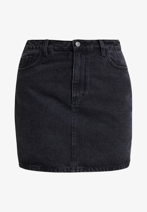 Denim skirt - black denim