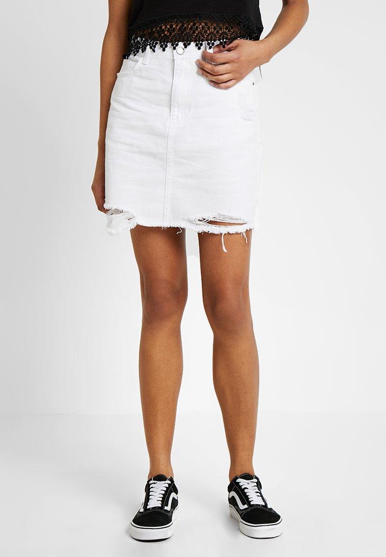 Even&Odd - Falda vaquera - white